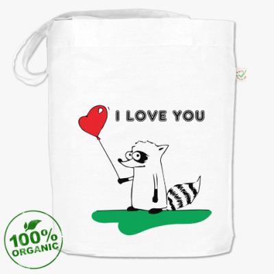 Сумка 'I LOVE YOU' с Енотом