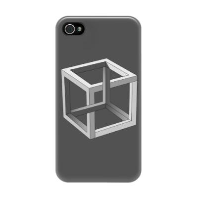 Чехол для iPhone 4/4s Невозможный Куб 3D
