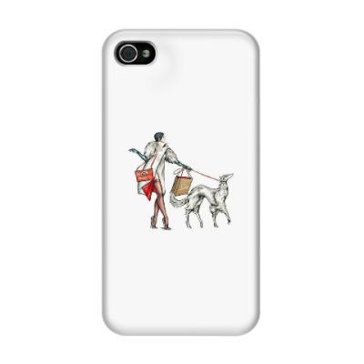 Чехол для iPhone 4/4s Дама с собачкой