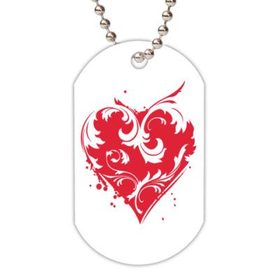 Жетон dog-tag сердце
