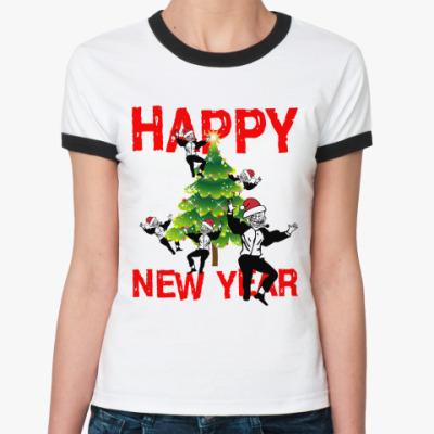 Женская футболка Ringer-T Trolldad-party