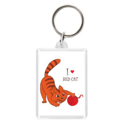 Брелок Я люблю рыжих котов