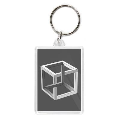 Брелок Невозможный Куб 3D
