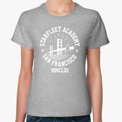 Женская футболка Академия Звёздного флота