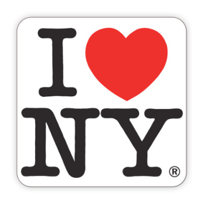 Костер (подставка под кружку) I LOVE NY