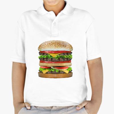 Детская рубашка поло Вкусняшка гамбургер