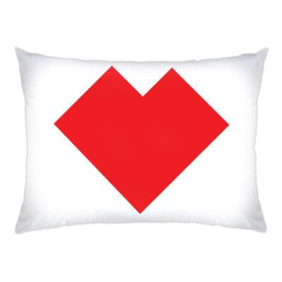 Подушка Сердце танграм