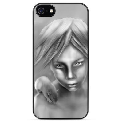 Чехол для iPhone девочка с крысой