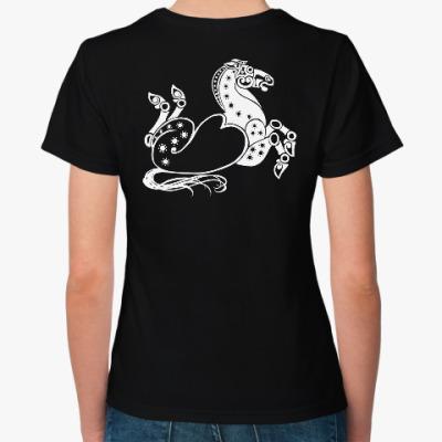 Женская футболка Скифский конь