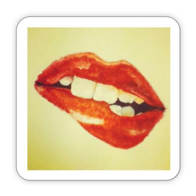 Костер (подставка под кружку) Lips