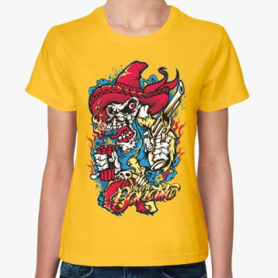 Женская футболка Бандит