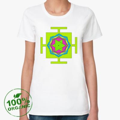 Женская футболка из органик-хлопка Бхуванешвари-янтра