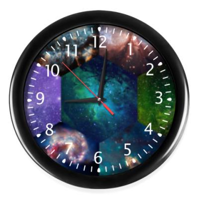 Настенные часы Космический гексагон