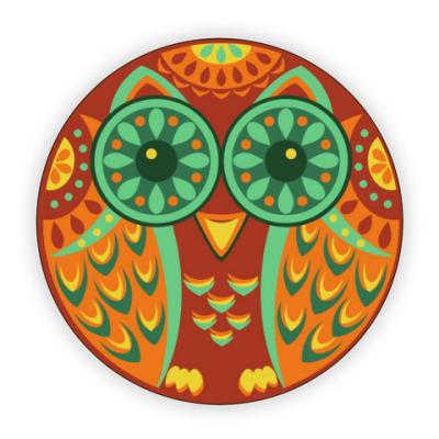Костер (подставка под кружку) Сова Оранж