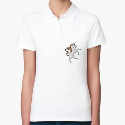 Женская рубашка поло Единорог