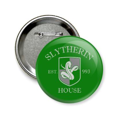 Значок 58мм Slytherin
