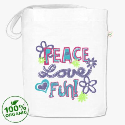 Сумка Мир, Любовь, Веселье!