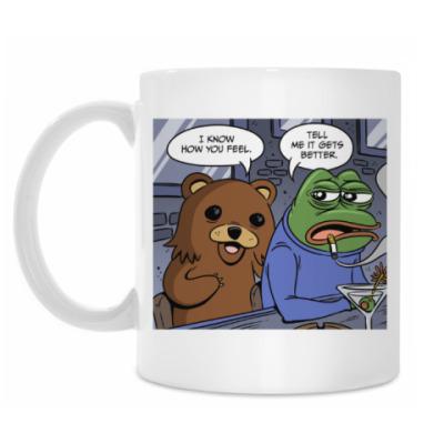 Кружка Pepe Frog & Pedobear