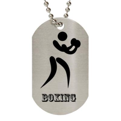 Жетон dog-tag  'BOXING'