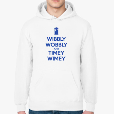 Толстовка худи WIBBLY WOBBLY and TIMEY WIMEY