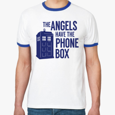 Футболка Ringer-T The Angels Have The Phone Box