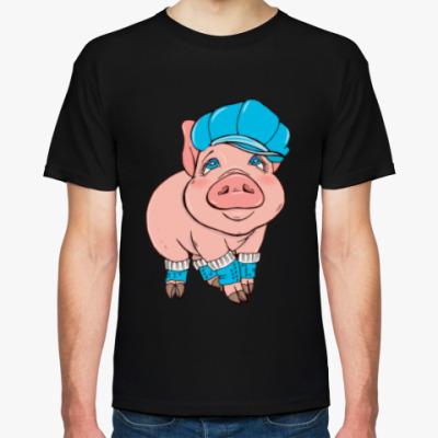 Футболка Свинка в кепке