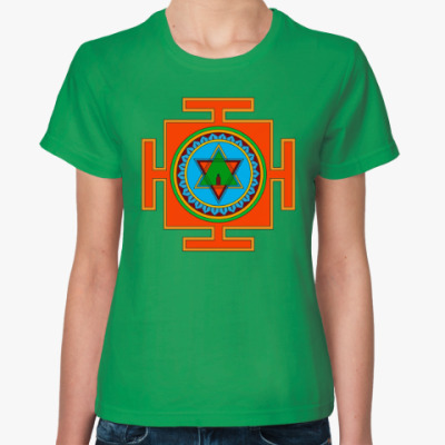 Женская футболка Трипура-сундари-янтра