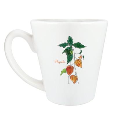 Чашка Латте 'Физалис'