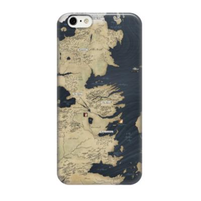Чехол для iPhone 6/6s Карта Вестерос, Игра престолов