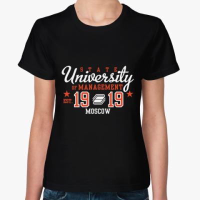 Женская футболка Символика ГУУ