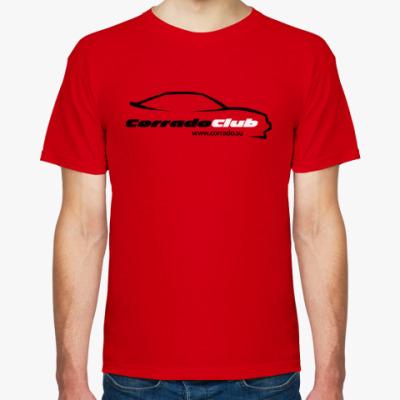 Футболка Чер/бел логотип corrado club (красная)