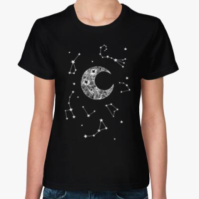 Женская футболка The moon