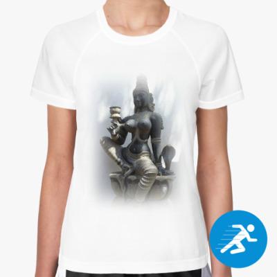 Женская спортивная футболка Богиня