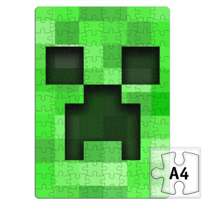 Пазл Minecraft Creeper