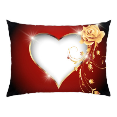 Подушка Золотая роза