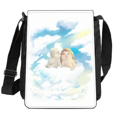 Сумка-планшет Двое на облаке