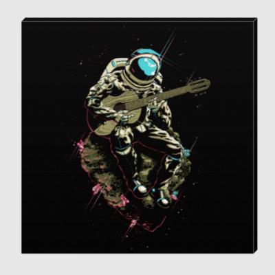 Холст Космонавт с гитарой