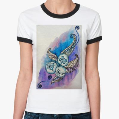 Женская футболка Ringer-T Пионы