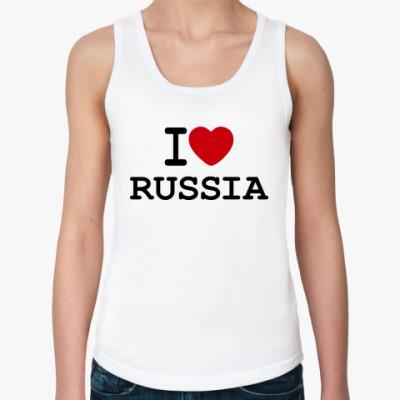 Женская майка I Love Russia