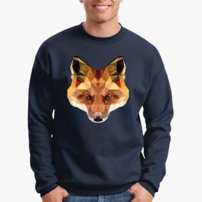 Свитшот Low Poly Fox (Лиса)