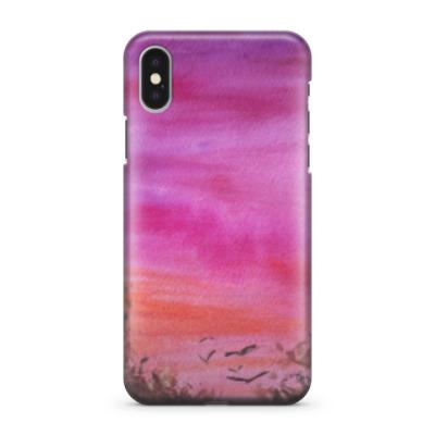 Чехол для iPhone X вечернее небо