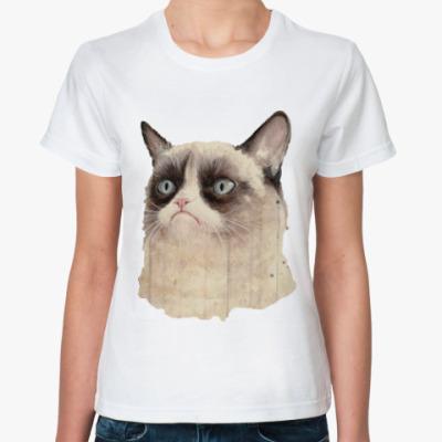 Классическая футболка Grumpy Cat / Сердитый Кот