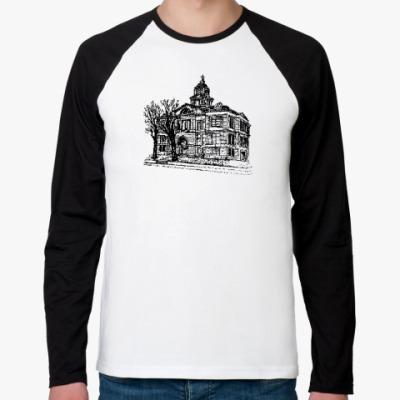Футболка реглан с длинным рукавом Дом с привидениями