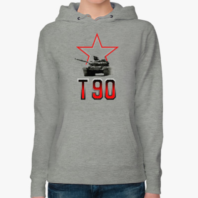 Женская толстовка худи Танк Т-90