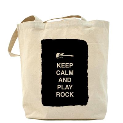Сумка Keep calm and play rock