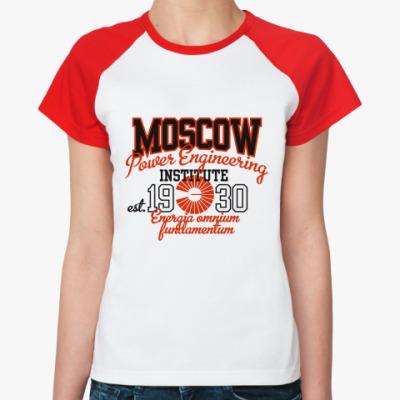 Женская футболка реглан Символика МЭИ
