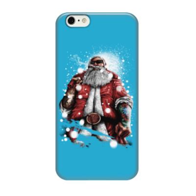 Чехол для iPhone 6/6s Четкий Санта Клаус с подарком