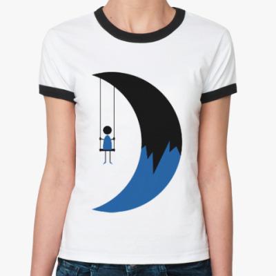 Женская футболка Ringer-T Качели на Луне