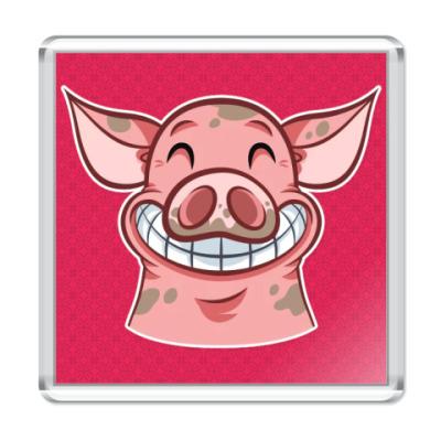 Магнит Smile Piggy