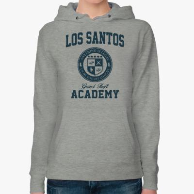 Женская толстовка худи Los Santos Grand Theft Academy